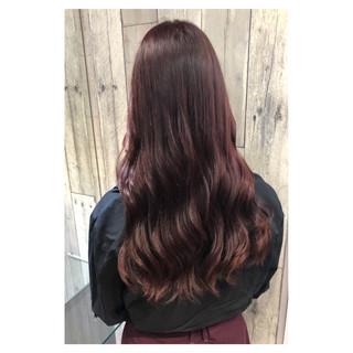 セミロング ピンク デート 大人かわいい ヘアスタイルや髪型の写真・画像