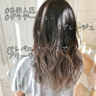 ハイライト グラデーションカラー 外国人風カラー ロング ヘアスタイルや髪型の写真・画像