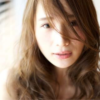 ストリート ブラウン 前髪あり ロング ヘアスタイルや髪型の写真・画像 ヘアスタイルや髪型の写真・画像
