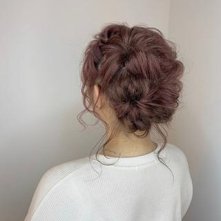 ミディアム デート 成人式 ヘアアレンジ ヘアスタイルや髪型の写真・画像