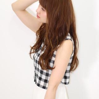 ゆるふわ 大人かわいい フェミニン ロング ヘアスタイルや髪型の写真・画像