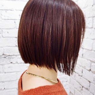 モード ボブ 切りっぱなしボブ ミニボブ ヘアスタイルや髪型の写真・画像