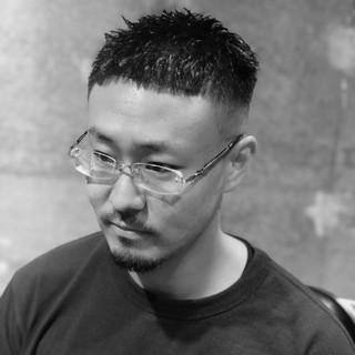 メンズヘア 刈り上げ メンズスタイル ショート ヘアスタイルや髪型の写真・画像 | メンズカット専門 NAKAMINE RYOMA / Men's grooming salon Aoyama