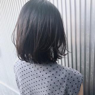 前髪あり グレージュ ボブ ストレート ヘアスタイルや髪型の写真・画像