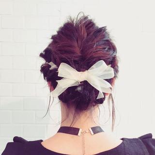 大人かわいい ショート 編み込み 簡単ヘアアレンジ ヘアスタイルや髪型の写真・画像