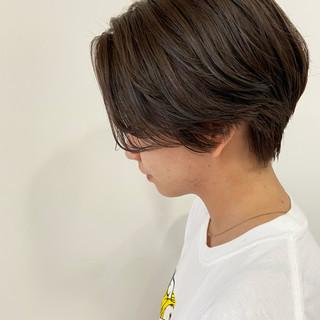 ショートバング ショート ハンサムショート ショートヘア ヘアスタイルや髪型の写真・画像