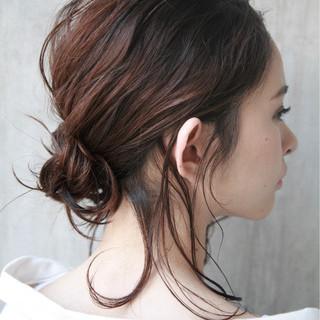 ナチュラル 簡単ヘアアレンジ 夏 ヘアアレンジ ヘアスタイルや髪型の写真・画像 ヘアスタイルや髪型の写真・画像