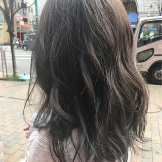 アッシュ ウェーブ 外国人風カラー 外国人風 ヘアスタイルや髪型の写真・画像