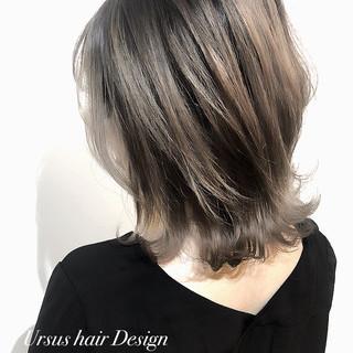 エレガント インナーカラー 切りっぱなしボブ 外国人風カラー ヘアスタイルや髪型の写真・画像