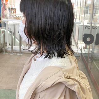 外ハネボブ 外ハネ ナチュラル 暗髪 ヘアスタイルや髪型の写真・画像