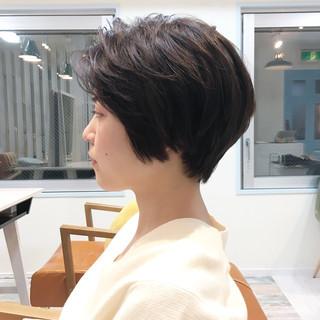 デート ナチュラル 小顔 ショート ヘアスタイルや髪型の写真・画像