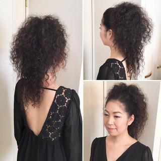 かっこいい 結婚式 ハーフアップ 大人女子 ヘアスタイルや髪型の写真・画像