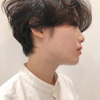マッシュショート ショート ショートボブ パーマ ヘアスタイルや髪型の写真・画像