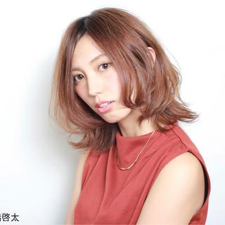 大人かわいい フェミニン ボブ セミロング ヘアスタイルや髪型の写真・画像