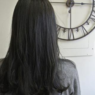 カール ワンカール グラデーションカラー ナチュラル ヘアスタイルや髪型の写真・画像