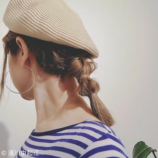 ストリート グレージュ 簡単ヘアアレンジ 外国人風 ヘアスタイルや髪型の写真・画像