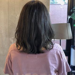 透明感 アンニュイほつれヘア 外国人風カラー ミディアム ヘアスタイルや髪型の写真・画像