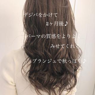 デジタルパーマ 大人かわいい ヘアスタイル グレージュ ヘアスタイルや髪型の写真・画像