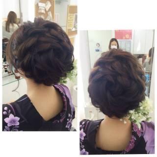 ルーズ ガーリー 大人女子 和装 ヘアスタイルや髪型の写真・画像