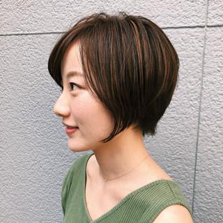 ショート デート オフィス ナチュラル ヘアスタイルや髪型の写真・画像