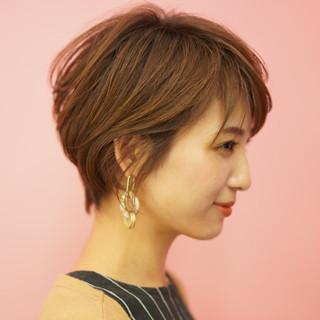 ミニボブ 30代 ショート 40代 ヘアスタイルや髪型の写真・画像