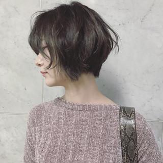 ショート 外国人風 アンニュイ 透明感 ヘアスタイルや髪型の写真・画像