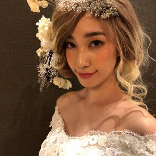 福岡市 ブライダル 花嫁 ヘアアレンジ ヘアスタイルや髪型の写真・画像