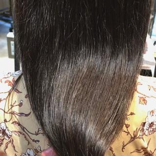 透明感カラー 秋冬スタイル セミロング 最新トリートメント ヘアスタイルや髪型の写真・画像
