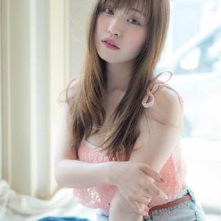 フェミニン セミロング 小顔 こなれ感 ヘアスタイルや髪型の写真・画像