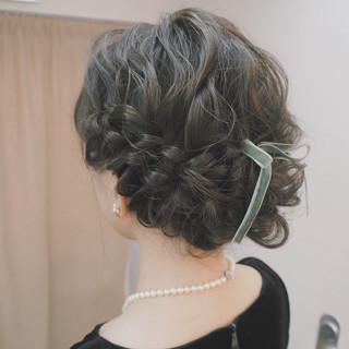 ヘアアレンジ 編み込み 外国人風 結婚式 ヘアスタイルや髪型の写真・画像 ヘアスタイルや髪型の写真・画像