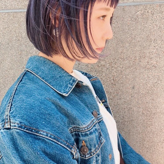 ストリート ミニボブ カジュアル ボブ ヘアスタイルや髪型の写真・画像