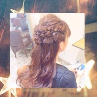 ウェーブ コンサバ モテ髪 アップスタイル ヘアスタイルや髪型の写真・画像