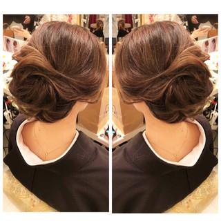 ロング 結婚式 ナチュラル 簡単ヘアアレンジ ヘアスタイルや髪型の写真・画像