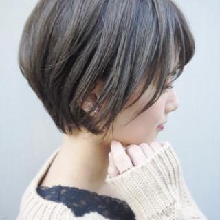 ショート オフィス デート 秋冬ショート ヘアスタイルや髪型の写真・画像
