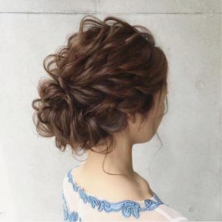 上品 ロング パーティ ヘアアレンジ ヘアスタイルや髪型の写真・画像