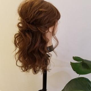 ヘアアレンジ ロング 結婚式ヘアアレンジ ゆる巻き ヘアスタイルや髪型の写真・画像