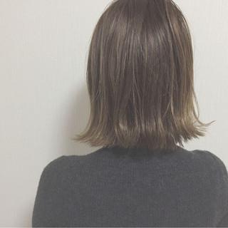 切りっぱなし ロブ 外国人風 ボブ ヘアスタイルや髪型の写真・画像