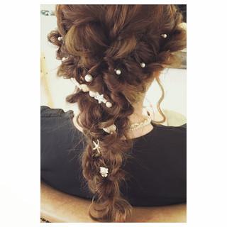 外国人風 ヘアアレンジ ロング 夏 ヘアスタイルや髪型の写真・画像