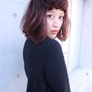 ラベンダーピンク ベリー ストリート ボブ ヘアスタイルや髪型の写真・画像