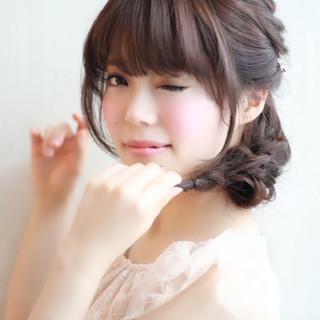 ヘアアレンジ フェミニン モテ髪 ゆるふわ ヘアスタイルや髪型の写真・画像 ヘアスタイルや髪型の写真・画像
