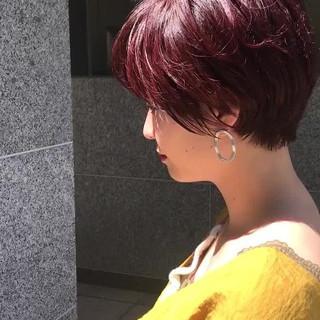 ベリーショート ショートバング ハンサムショート ショートヘア ヘアスタイルや髪型の写真・画像