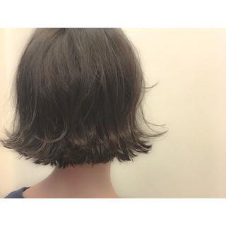 ストリート ボブ 暗髪 外ハネ ヘアスタイルや髪型の写真・画像
