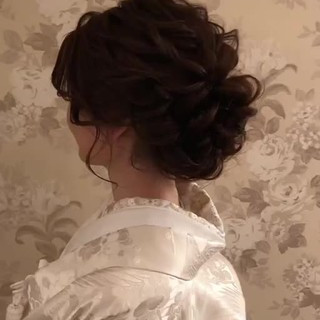 結婚式髪型 おしゃれさんと繋がりたい セミロング ヘアアレンジ ヘアスタイルや髪型の写真・画像