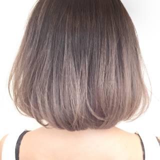 外国人風 ハイライト グラデーションカラー ボブ ヘアスタイルや髪型の写真・画像