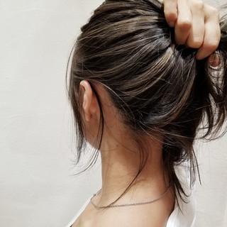 バレイヤージュ ヘアアレンジ 外国人風 ナチュラル ヘアスタイルや髪型の写真・画像