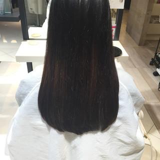 黒髪 ロング トリートメント ストレート ヘアスタイルや髪型の写真・画像