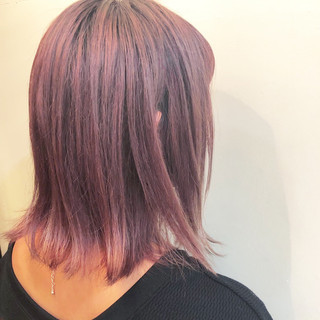 ストリート ボブ グラデーションカラー バレイヤージュ ヘアスタイルや髪型の写真・画像
