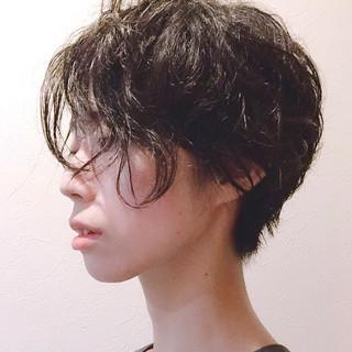 ボーイッシュ クール ショート 黒髪 ヘアスタイルや髪型の写真・画像