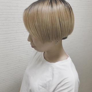 リラックス ショートボブ ショート 外国人風カラー ヘアスタイルや髪型の写真・画像