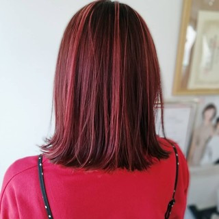 ミディアム 大人可愛い フェミニン ハイライト ヘアスタイルや髪型の写真・画像